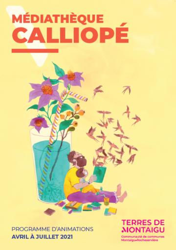Image du programme d'animations de printemps de la médiathèque Calliopé